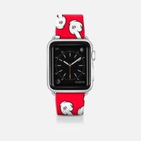 HATERS GONNA HATE! Pattern in red Apple Watch Band (42mm)  by Philipp Rietz | Casetify