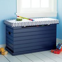 Kids' Benches: Kids Blue Beadboard Toy Chest in Toy Boxes & Storage | The Land of Nod