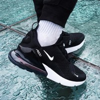 NIKE Air Max 270 Hot Sale Trending Men and Women Fashion Splicing Color Sneakers B-CSXY / B-CQ-YDX Black