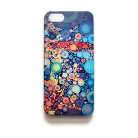 iPhone 5 Case Circles Pattern iPhone 5 s Cover Geometric iPhone Hard Cover Abstract Painting Phone 5 Back Cover  Colorful 2317