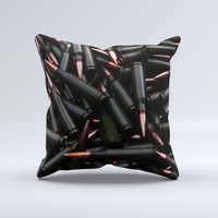 Black Bullet Bundle Ink-Fuzed Decorative Throw Pillow