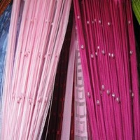 fringe curtain Picture - More Detailed Picture about String curtains, tassel door / window curtain with beads, fringe curtain.home decoration. 280x290cm. wholesale. Picture in Curtains from South Kingze Co.,Ltd