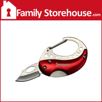 Keychain Knife Carabiner Red