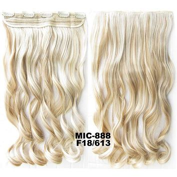 Bath & Beauty 5 Clip in synthetic hair extension hairpieces wavy slice curly hairpiece MIC-888 F18/613,Hair Care,fashion Cosplay ombre 1PC