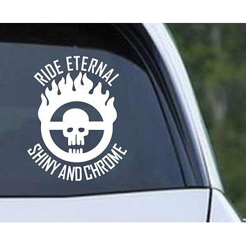 Mad Max Fury Road Brand Ride Eternal Shiny and Chrome Vinyl Die Cut Decal Sticker