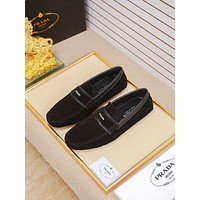 Prada Men's Leather Loafers Shoes