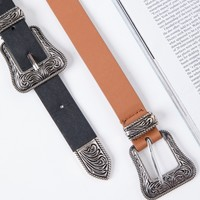 Western Double Buckle Belt