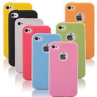 niceEshop(TM) Baby Blue/White Fashion TPU and PC 2 Piece Style Hybrid Bumper Case Cover for iPhone 4 4S