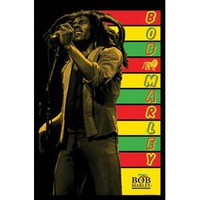 Bob Marley Blacklight Poster