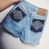 Reserved-AM high waisted shorts