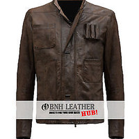 The Force Awakens Han Solo Star Wars Leather Jacket - Lovers Deal