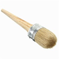 Painting Brushes Wooden Bristle Handle 50mm Dia Round Bristle Chalk Oil Paint Wax Brush Hair Length 75mm School Supplies