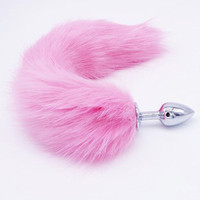 Pink Butt Anal Plug Tail - ddlg bdsm kitten sex toy