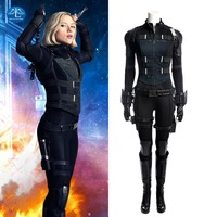Free Shipping Avengers Infinity War Black Widow Cosplay Costume Natasha Romanoff Cosplay Women Halloween Black Widow Costume