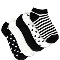 Heart Pattern Sock Set | Forever 21 - 2000142374