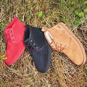 UGG hot sale classic solid color middle cut men's and women's casual warm boots shoes