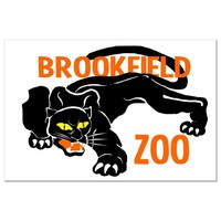Restored Collectible Brookfield Zoo Post Card