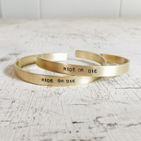 Ride Or Die Cuff (Set of 2)