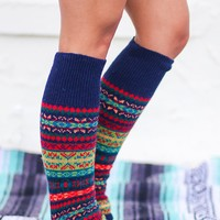 Bohemian Winter Knit Leg Warmer