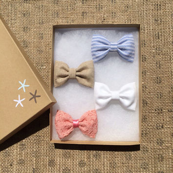 Beautiful Spring Seaside Sparrow hair bow lot.  Perfect gift for her.