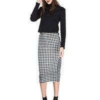 Monika Gingham Pencil Skirt