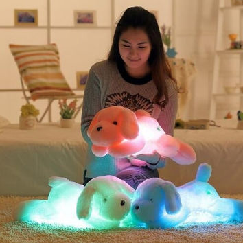 Large Plush, Soft and Cuddly Light Up Puppy Dogs. Awesome Gift For kids