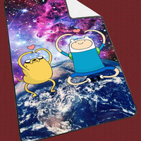 """Galaxy Adventure Time Jake and Finn Design Kids Blanket Game Blanket All Character Popular Game, Cute and Awesome Blanket for your bedding, Blanket fleece """"NP"""""""