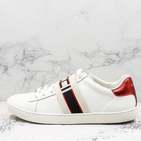 Gucci Stripe Leather Sneaker White