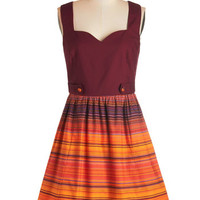 Bea & Dot Sleeveless A-line Along the Horizon Dress