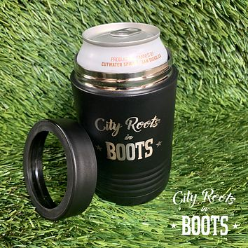 City Roots in Boots Insulated Beverage Holder