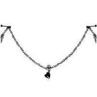 Handmade Take Your Love to the Grave Skull Nipple Chain MADE WITH SWAROVSKI ELEMENTS | Body Candy Body Jewelry
