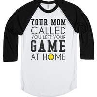 Your mom called left game at home softball tee tshirt t