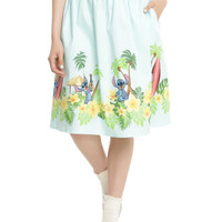 Disney Lilo & Stitch Border Print Retro Circle Skirt
