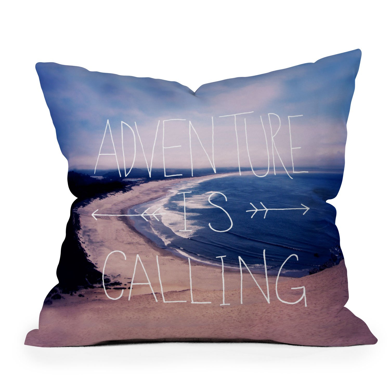 Image of Leah Flores Adventure Is Calling Throw Pillow
