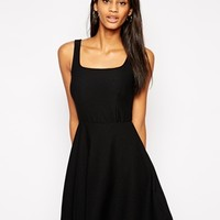 TFNC Bardot Dress With Square Neck In Texture