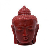 Blissliving Home Buddha Head Candle in Red - PT46542 - Candles & Holders - Decorative Accents - Decor
