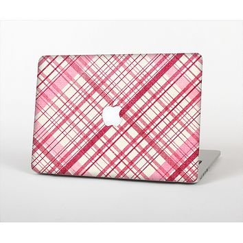 The Fancy Pink Vintage Plaid Skin Set for the Apple MacBook Air 11""