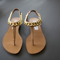 Hot Stuff Sandals- Cognac