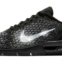 SALE - Nike Air Max Sequent + Crystals - Black - unisex