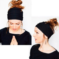 Soft Women Elastic Stretch  Running Wide Hairband Head Wrap Yoga Headband Turban [8802096460]