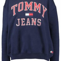 Tommy Hilfiger Fashion Casual Long Sleeve Sport Top Sweater Pullover Sweatshirt G-1
