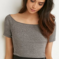 Heathered Crop Top