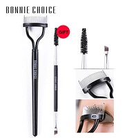BONNIE CHOICE Mascara Guide Applicator Eyelash Comb Curler & Eyebrow Brush Curlers Grooming Makeup Tool Set