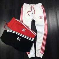 Tagre™ Adidas Fashion Stripe Casual Sport Pants Trousers Sweatpants