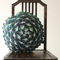 Spring Succulent decorative pillow made to order