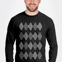 Argyle Fighters - Sci-Fi pattern long sleeve t-shirt by Ian Leino