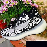 ADIDAS YEEZY 380 Boost Print Sneakers Black White Print Shoes