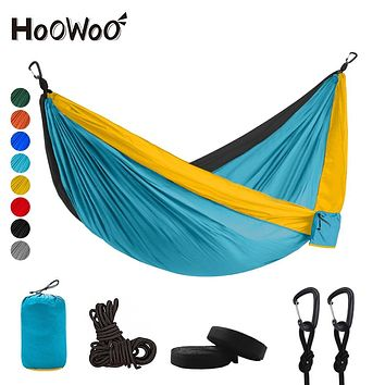 300*200 Double Hammock Outdoor Camping Parachute hammock Backpack Travel Survival Hunting Sleeping Portable Hanging garden Bed