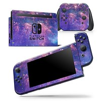 Colorful Nebula - Skin Wrap Decal for Nintendo Switch Lite Console & Dock - 3DS XL - 2DS - Pro - DSi - Wii - Joy-Con Gaming Controller