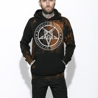 Believe In Yourself - Bleach Wash Hooded Pullover Sweater